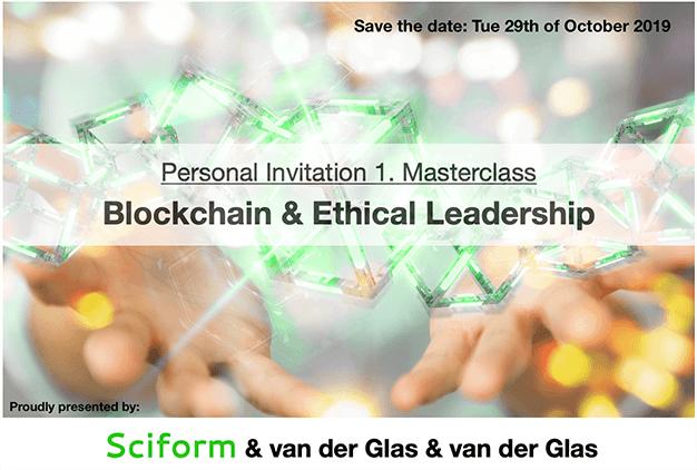 Sciform Masterclass Blockchain & Ethical Leadership