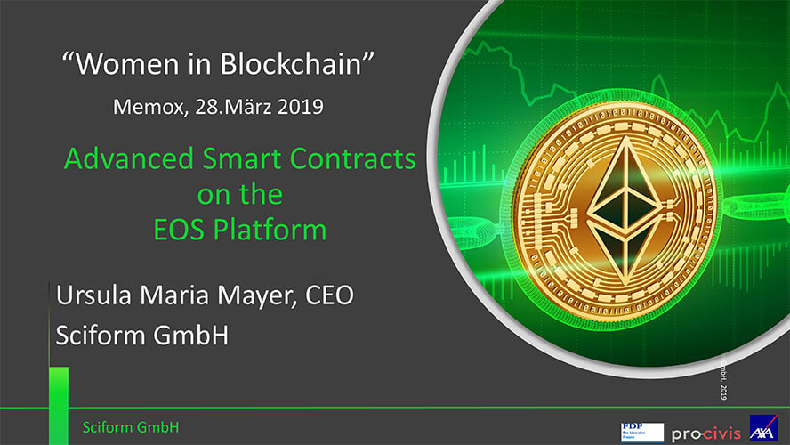 Sciform Workshop Smart Contracts on EOS